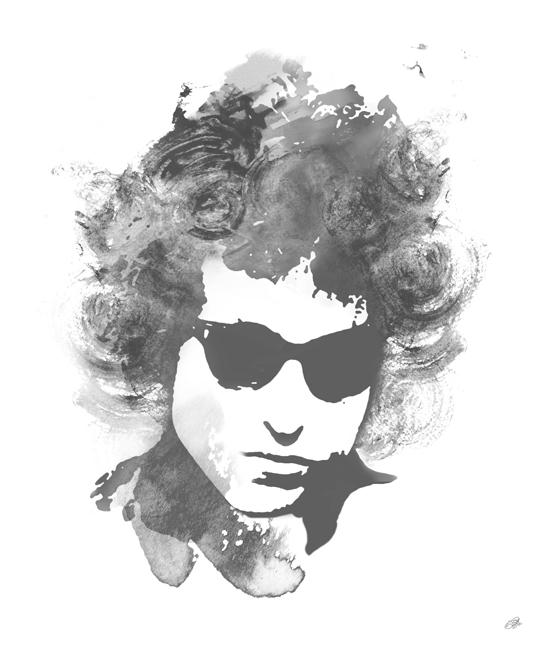 Bob Dylan Canvas Art Print By Lja Canvas Art