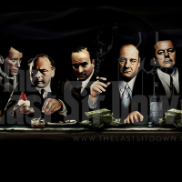 Last Sit-Down Gangster Art