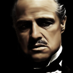 Vito Corleone The Godfather Canvas Art Print