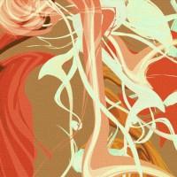 Cascata Floreale Canvas Print Detail
