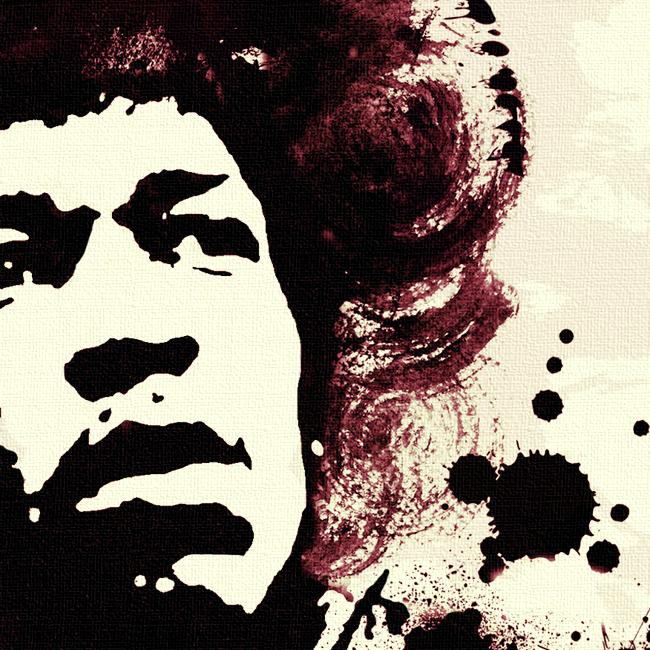 Jimi Hendrix Canvas Print Detail