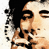 Keith Moon Canvas Print Detail